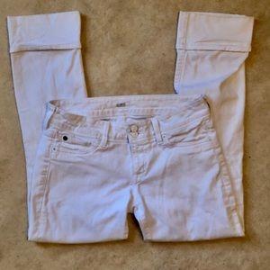 Hudson Ginny Straight Crop Cuffed Jeans sz 28